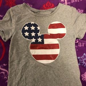 Old Navy unisex Mickey patriotic ears size 5T